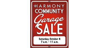 Community-Wide Garage Sale Returns to Harmony, Saturday, October 4