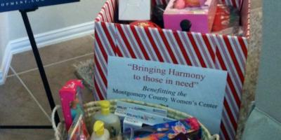 Harmony To Collect Unwrapped Gifts For Montgomery County Women's Center