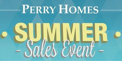 Save During Perry Homes' Summer Sales Event!