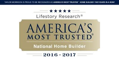 Harmony Home Builder Voted America's Most Trusted