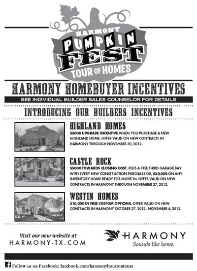 Pumpkin Fest Builder Incentives